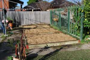 GARDEN beds BEFORE A