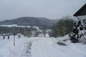 Austria WSED tour farm landscape in snow