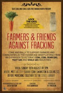 Farmers against fracking poster