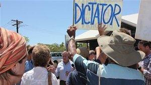 Gas demonstrators in WA