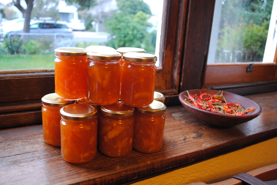 marmalade and chillies