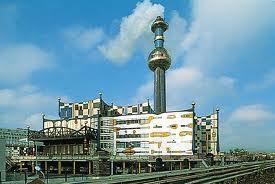 Hundertwasser power plant Vienna