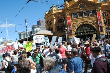 March Against Monsanto, Flinders St Station 12 Oct 2013