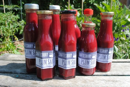 Shaftesbury Plum Sauce, thanks to our Satsuma Plum tree and Margaret Fulton.