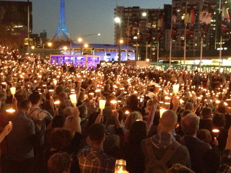 Light the Dark Vigil Melbourne 2014