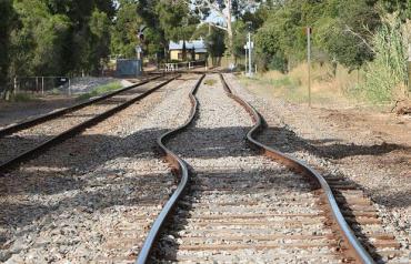 Railway lines buckling