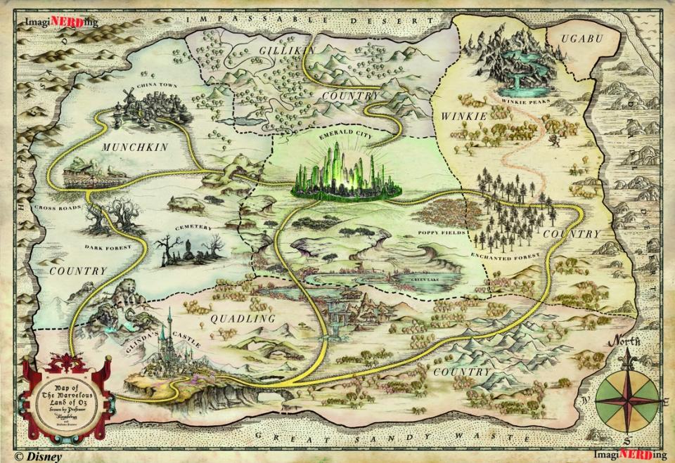 Land of Oz Map
